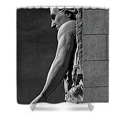 Strength B-w Shower Curtain