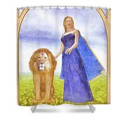 Strength Shower Curtain by John Edwards