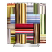 Stretch Of Colors Shower Curtain