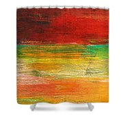 Stretching Land Shower Curtain