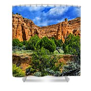 Striated Mountains Shower Curtain