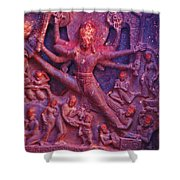 Striding Vishnu Shower Curtain
