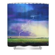 Strike From The Heavens Shower Curtain