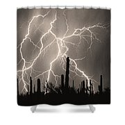 Striking Photography In Sepia Shower Curtain