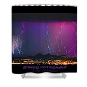 Striking Photography Shower Curtain
