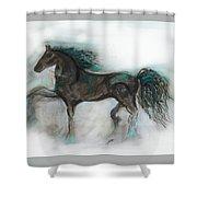 Striking Stallion Shower Curtain