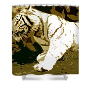 Striking Tiger Shower Curtain
