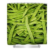 String Bean Heaven Shower Curtain