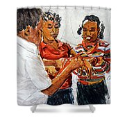 String Games Shower Curtain