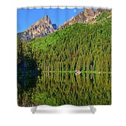 String Lake Morning Mirror Shower Curtain