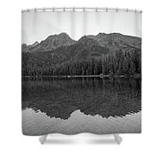 String Lake Reflections Bw Shower Curtain
