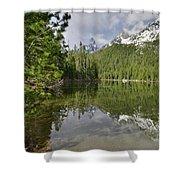 String Lake Teton Reflection Shower Curtain