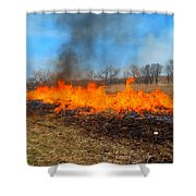 String Of Fire Shower Curtain