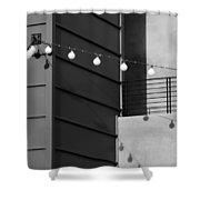 String Of Ideas Black And White Shower Curtain