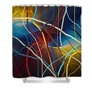 String Theory Shower Curtain