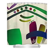 Strings, Black Strip And Ties Shower Curtain