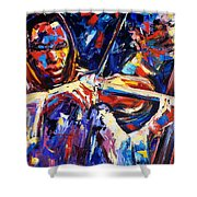 Strings Of Jazz Shower Curtain