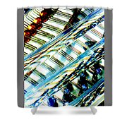 Strings Z100 Abstract Shower Curtain