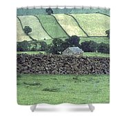 Strip Fields Shower Curtain