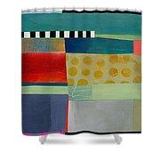 Stripe Assemblage 2 Shower Curtain