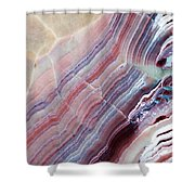 Striped Quartz Shower Curtain