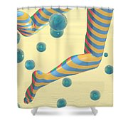 Striped Stockings Shower Curtain