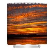 Striped Sunset Shower Curtain