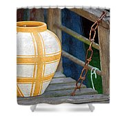 Striped Vase Shower Curtain