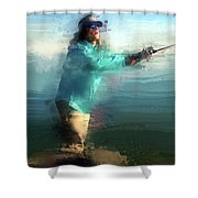 Stripers  Shower Curtain