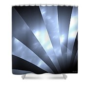 Stripes And Sky Shower Curtain