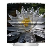 Stripped Waterlily Shower Curtain