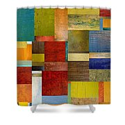 Strips And Pieces L Shower Curtain