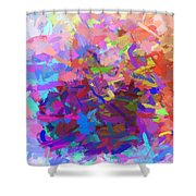 Strips Of Pretty Colors Abstract Shower Curtain