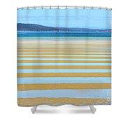 Stripy Shores Shower Curtain
