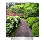 Stroling Garden Path In Japanese Garden Shower Curtain