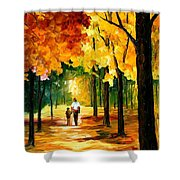 Stroll In The Forest Shower Curtain