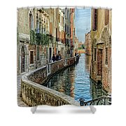 Stroll The Canal Shower Curtain