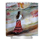 Strollin Senorita Shower Curtain