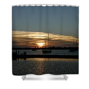 Strolling In The Sunset Shower Curtain