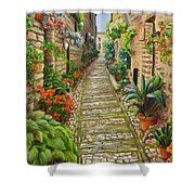 Strolling Spello, Italy Shower Curtain