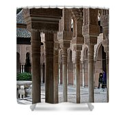Strolling The Courtyard Of The Lions Shower Curtain