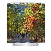 Strolling The Upper Cascades Trail Shower Curtain
