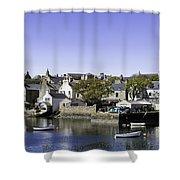 Stromness Harbor Shower Curtain