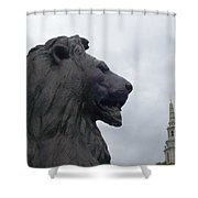 Strong Lion Shower Curtain