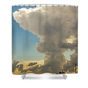 Strong Storms In South Central Nebraska 001 Shower Curtain