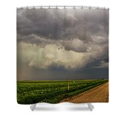 Strong Storms In South Central Nebraska 003 Shower Curtain