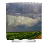 Strong Storms In South Central Nebraska 005 Shower Curtain