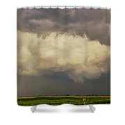 Strong Storms In South Central Nebraska 006 Shower Curtain
