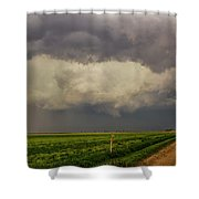 Strong Storms In South Central Nebraska 008 Shower Curtain
