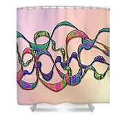 Strong Wind At Sunset Shower Curtain
